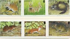 Jersey-Mammals set of 6 mnh