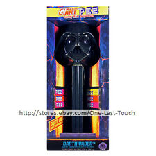"""STAR WARS 7pc Set DARTH VADER GIANT PEZ Dispenser+Candy COLLECTIBLE 4""""x11.5"""""""