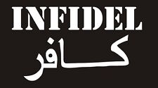 Large Infidel Decal - White
