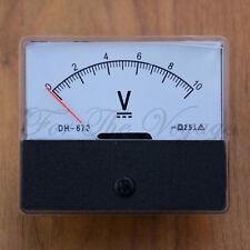 0- 10V DC Voltmeter Analogue Panel Volt Meter Analog NEW