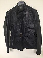 NEW BELSTAFF X BECKHAM MARSHFIELD WAXED BLACK Motorcycle Jacket sz:52IT L $995