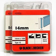 BLACK & DECKER TYPE 12 NAILS 14MM B&D BD418 DN418 (2 PACKS)