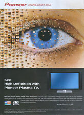 Pioneer Pure Vision Black Plasma TV 2006 Magazine Advert #2638