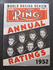 THE RING / WORLD BOXING REVIEW / ANNUAL RATINGS 1953 / 64 PAGES