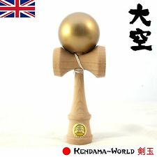 Ozora PREMIUM Edition Competion Kendama Gold. Sticky paint for performance play!