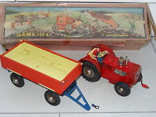 GAMA West Germany 50's TRACTOR AND TRAILER - 180/4 BOXED