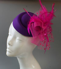 Customised Pill Box Hat Fascinator Clip Wedding Royal Ascot Races Hatinator