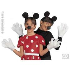 Childrens Mickey Mouse Dress Up Fancy Dress Diguise Kit Set Ears Nose & Gloves