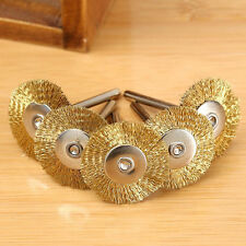 5PCS Steel Wire Brush Polishing Wheels Set for Rotary Tool Gold Color Top Sale