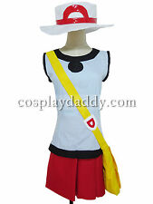 Pokemon FireRed and LeafGreen Leaf cosplay costume Halloween Outfit