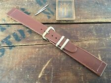 "19mm 3/4"" New Old Stock 1950s Calfskin Leather Long Vintage Watch Band nos"