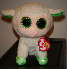 "Ty Beanie Boos ~ LALA the 6"" Lamb ~ Stuffed Plush Toy (Brand New) 2015 Design"