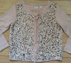Postmark Embellished Paillette Cardigan Sz X-Small Pink NW ANTHROPOLOGIE Tag