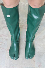 Japanese Knee High Green Ninja Tabi Split Toe Rubber Boots EU42 UK8 Gummistiefel