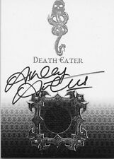 HARRY POTTER THE GOBLET OF FIRE ASHLEY ARTUS AS A DEATH EATER COSTUME AUTOGRAPH