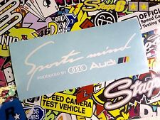 VINILO ADHESIVO PEGATINA SPORT MIND AUDI GERMAN   STICKER CAR COCHE TUNNING