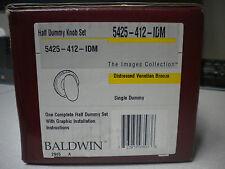 Baldwin Egg Knob Dummy Distressed Venetian Bronze 5425-412-IDM