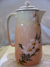 "ROOKWOOD""POTTERY""c1887~MINT""IRIS GLAZE""DAISIES""10""PINK""CHOCOLATE POT""SPEC DEMO"