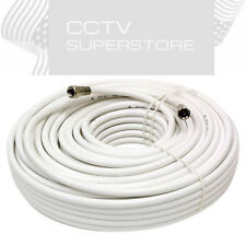 25 FT Gold Plated Coaxial Digital Cable for Satellite VCR TV Video White