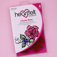 Heartfelt Creations Cling Rubber Stamp Set ~ Classic Rose, HCPC3752 ~ NIP