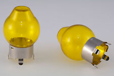 2x Yellow cap for H4 car light bulb - french style !! set of 2 caps !!! oldtimer