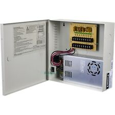 CCTV SECURITY CAMERA POWER Supply Distribution Box 12V DC 9ch 30 Amps PTC Fuse