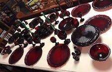 Vintage Avon Cranberry Cape Cod Dish Set