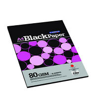 Campap Extra Black Paper A4 size (5 packs - 20 sheets each)