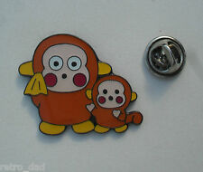 Fun Cute ANIME MONKEY MUM / CHILD Enamel Metal PIN BADGE Pins Comics Video Games