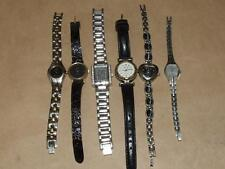Ladies Wrist Watch Lot of 6 Q&Q Denacci DMC ESQ Relic Gruen For Parts or Repair