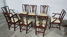 Baker Williamsburg Dining Room Chairs Chippendale Set Mahogany