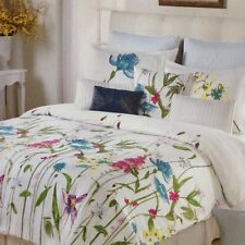 CYNTHIA ROWLEY WILDFLOWERS FLORAL QUEEN COMFORTER SET 6PC W DECO PILLOWS