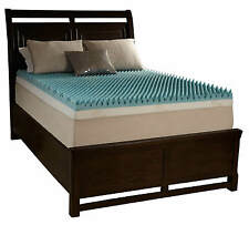 "3"" Cal King Egg Crate Foam Mattress Topper Beautyrest Gel Infused Memory Bed Pad"
