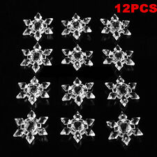 12PCS Snowflakes Christmas Ornament Festival Party Xmas Tree Hanging Decoration