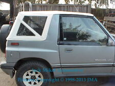 Geo Tracker Replacement Soft Top White With Clear Windows