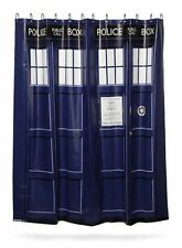 NEW Doctor Who Tardis Shower Curtain w/ 12 Hanger Rings