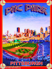 PNC Park Pittsburgh Pennsylvania United States Travel Advertisement Poster