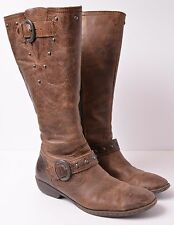 BOC Born Ginger Brown Leather Knee High Zip Stud Riding Boots Women's size 7.5