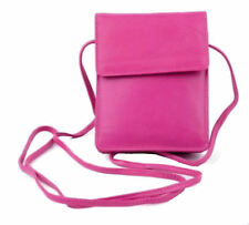 Golunski 1008 New Cross Body Soft Leather Small Travel Crossover Bag Bright Pink