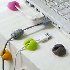 New Design 3 PCS Computer PC TV USB Cable Cord Wire Clip Line Tie Holder Fixer