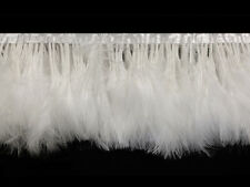 Marabou Fringe | Turkey Fluff Trim - 1 Yard, White