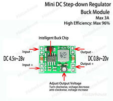 DC-DC 3A Buck Step-down Konverter Adjustable Voltage Regulator 3.3V 5V 6V 9V 12V
