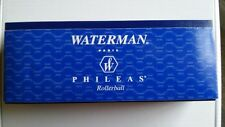 Waterman(R) Phileas Rollerball Pen, Fine Point, 0.7 mm, Black