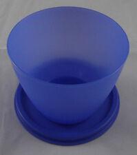 Tupperware Dose Behälter Box mit Deckel 450 ml Blau rund Neu