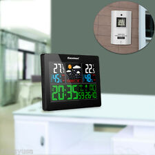 Color Wireless Display Weather Station Forecast Temperature Humidity In/Outdoor