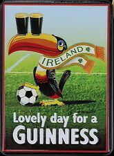 Guinness Football Toucan embossed metal fridge magnet (se 2508)
