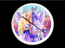 Barbie Wall Clock Can be Personalised