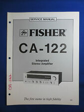 FISHER CA-122 INTEGRATED AMP SERVICE MANUAL FACTORY ORIGINAL GOOD CONDITION