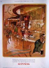 1968 GUINNESS Advert 'Queen Mary Observation Bar'- John Ward Print AD (G.E.4459)