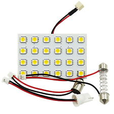Warm 5050 24-SMD LED Panel Dome Light for Car+Adapter(BA9S/T10/Festoon 31~44mm)